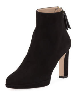 Delphine Suede Ankle Booties by Stuart Weitzman