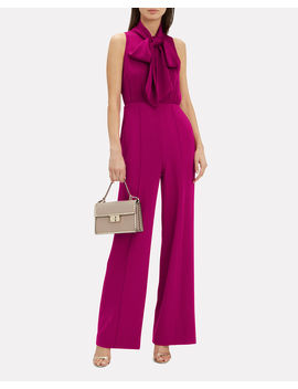 Virginia Tie Neck Jumpsuit by Diane Von Furstenberg
