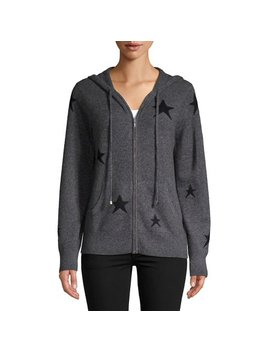 Star Printed Cashmere Hoodie by Ply Cashmere