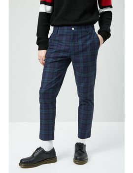 Plaid Slim Fit Woven Pants by Forever 21