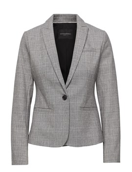 Petite Classic Fit Bi Stretch Plaid Blazer by Banana Repbulic