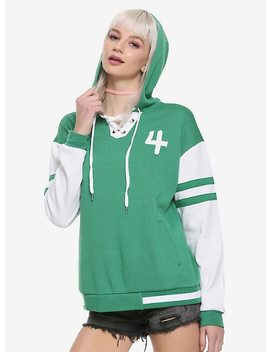 Sailor Moon Sailor Jupiter Girls Athletic Hoodie Hot Topic Exclusive by Hot Topic