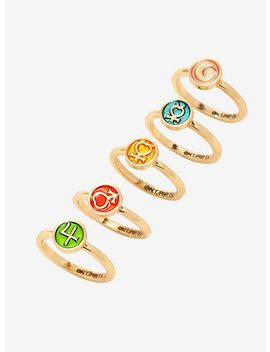 Sailor Moon Inner Guardians Emblems Ring Set by Hot Topic