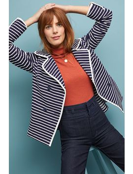 Striped Peacoat by Anthropologie