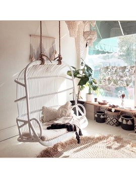 Paradise Love Seat, Double Rattan Hanging Chair   Los Angeles Pick Up & Freight Shipping by Etsy
