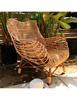 Wave Rattan Chair Lounger Club Chair    Los Angeles Pick Up by Etsy