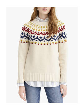 J.Crew Ivan Vintage Fair Isle Jumper, Natural by J.Crew