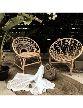 Bali Peacock Rattan Chair   Local Delivery So Cal by Etsy