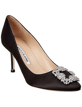 Manolo Blahnik Hangisi 70  Satin Pump by Manolo Blahnik