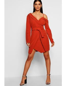 Off The Shoulder Tailored Mini Dress by Boohoo
