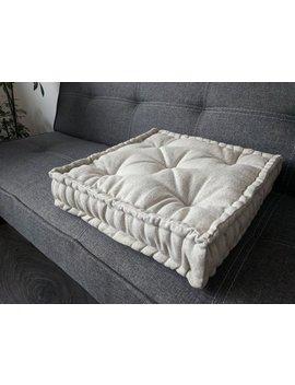 Hemp Floor Cushion With Organic Hemp Fiber Filling / Floor Pillow Pillow Seat/Meditation Yoga /Natural by Etsy
