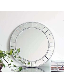 Mx.Home Decor Accent Mirror Wonderland The Glow Modern Frameless Wall Mirror (Round) by Mx.Home