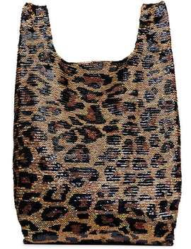 Classic Big Leopard Sequin Tote Bag by Ashish