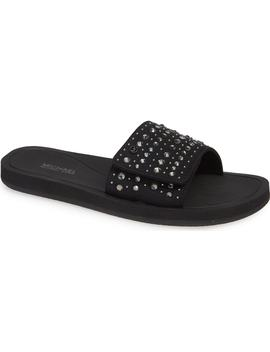 Embellished Slide Sandal by Michael Michael Kors