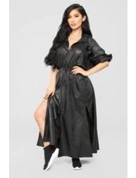 Casually Chic Nylon Dress   Black by Fashion Nova