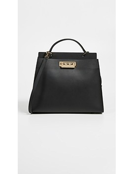 Earthette Double Compartment Satchel by Zac Zac Posen
