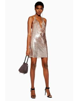 Rose Gold Chainmail Shift Dress by Topshop
