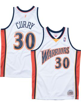 Mitchell &Amp; Ness Men's Golden State Warriors Stephen Curry #30 Hardwood Classics Swingman Jersey by Mitchell & Ness
