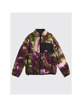 Stüssy Reversible Micro Fleece Jacket Tie Dye Purple by Très Bien