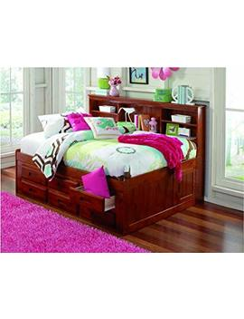 Discovery World Furniture Bookcase Daybed With 6 Drawers, Full, Merlot by Discovery World Furniture
