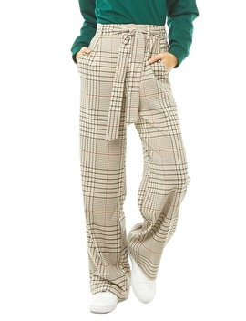 Plaid Print Pants by Forever 21