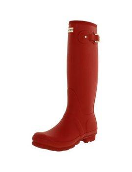 Hunter Women's Original Tall Military Red Knee High Rubber Rain Boot   6 M by Hunter