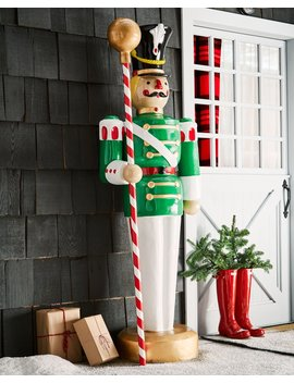 Live Form Toy Soldier With Drum Major's Mace by Neiman Marcus