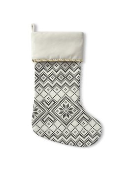 The Holiday Aisle Snowflake Holiday Stocking by The Holiday Aisle
