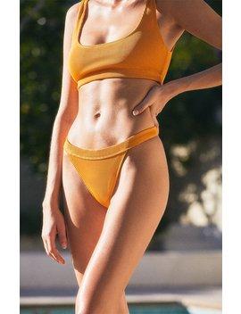 La Hearts Peach Hipster Bikini Bottom by Pacsun