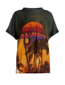 Beach Club Print T Shirt by Balmain