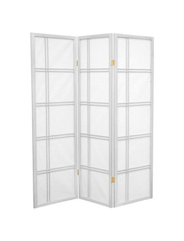 5 Ft. Tall Double Cross Shoji Screen (3 Panels)   Oriental Furniture by Oriental Furniture