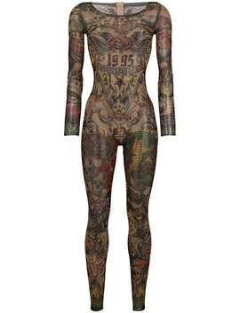Tattoo Skinny Fit Jumpsuit by Dsquared2