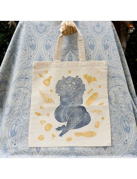 Witch Sylvester   Tote Bag, Cotton Bag, Two Color Print by Etsy
