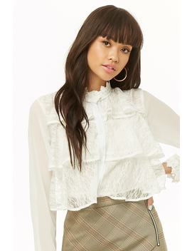 Chiffon Tiered Ruffle Shirt by Forever 21