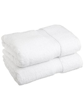 "Superior 900 Gsm Luxury Bathroom Towels, Made Long Staple Combed Cotton, Set Of 2 Hotel & Spa Quality Bath Towels   White, 30"" X 55"" Each by Superior"