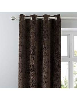 Crushed Velour Chocolate Eyelet Curtains by Dunelm
