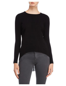 Black Pleated Back Sweater by Karen Millen