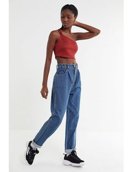 Uo Britney Suede One Shoulder Cropped Top by Urban Outfitters
