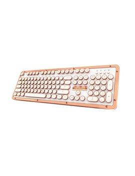 Azio Retro Classic Bluetooth Posh   Luxury Vintage Backlit Mechanical Keyboard, White/Copper (Mk Retro L Bt 02 Us) by Azio