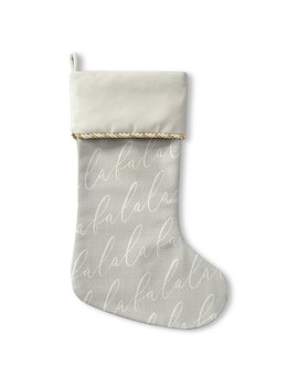 The Holiday Aisle Falala Holiday Stocking With Single Sided Print by The Holiday Aisle