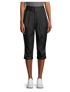 Y 3 Pleated Carrot Fit Cropped Pant by Y 3