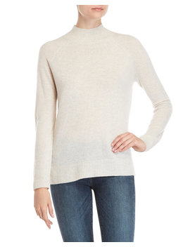 Mock Neck Cashmere Raglan Sleeve Sweater by Ply Cashmere