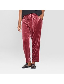 Women's Plus Size Straight Leg Velvet Pants   Ava & Viv™ by Ava & Viv