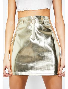 Golden Rocket Science Mini Skirt by Sans Souci Clothing