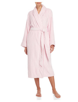 Pink Cable Plush Robe by Nautica