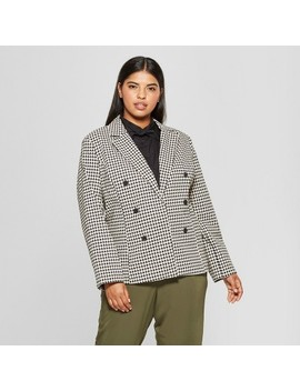 Women's Plus Size Classic Blazer   Who What Wear™ by Who What Wear