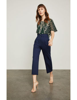 Wide Waistband Ankle Pant by Bcbgmaxazria