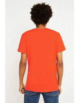Calvin Klein Jeans Monogramed Box Logo Orange T Shirt by Calvin Klein Jeans