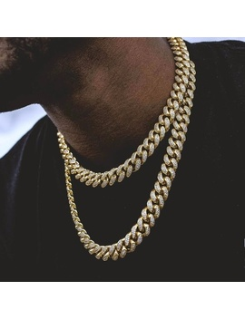 """Iced Out Gold Plated 12mm 18"""" & 22"""" Cuban ChokerBoutique by Poshmark"""
