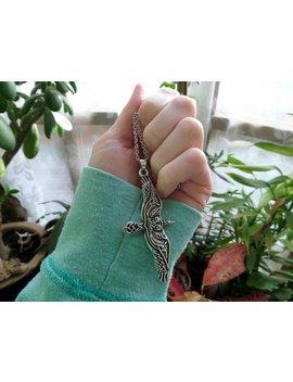 Raven Bird Of Prey Necklace, Celtic Animal Necklace, Detailed Bird Necklace, Large Bird Necklace, Larp, Fantasy, Witch Jewellery by Etsy
